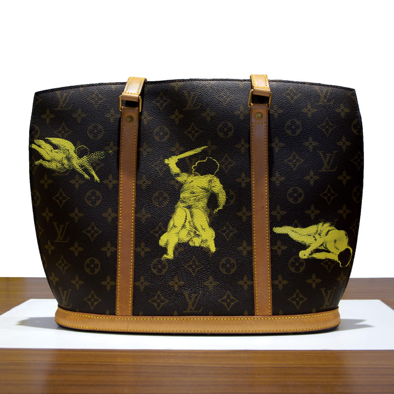 serigraphy on Louis Vuitton bag, 2015
