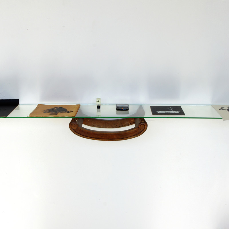 wood element, glass, 25x130cm, 2015